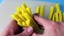 Play Doh McDonalds Fries How To Tutorial Play Dough McDonalds French Fries with 2 cans of Play-Doh