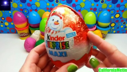 21 Surprise Eggs Play Doh Kinder Maxi Egg Disney Marvel Lego