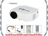 Excelvan® Mini LED/LCD Proyector Portable Multimedia con USB/SD/VGA/HDMI/AV/Micro USB Entretenimiento