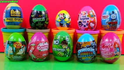 Surprise Eggs Ben 10 Winx Club Mickey Mouse Skylanders Giants Hello Kitty Thomas & Friends