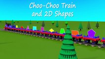 Shapes for kids kindergarten toddlers preschoolers. Shape train. Choo-Choo and 2D shapes. Cartoon