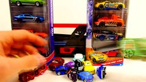 Hot Wheels Blastin Rig Cars Launcher - Disney Pixar Cars Micro Drifters and Play Doh Unikitty