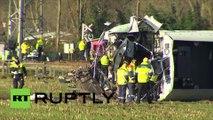 Pays-Bas : un accident de train dans l'est du pays, fait 1 mort et plusieurs blessés