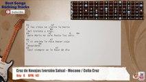 Cruz de Navajas (Versión Salsa) Mecano _ Celia Cruz Guitar Backing Track with chords and lyrics