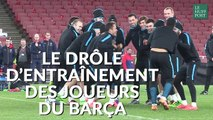 Ligue des Champions : le drôle d'entraînement du Barça