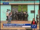 Enfrentamientos y suspensión de clases en el colegio Montúfar