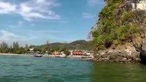 Boating From Railay to Nopparattara Beach, Krabi, Thailand
