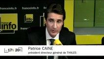 """Patrice Caine (Thales) : """"Nous continuons d'augmenter nos cadences pour suivre nos clients"""""""