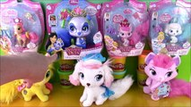 Disney Princess Palace Pets Collection 7 Palace Pets! Toy Haul Glitter Pets Plush Pets