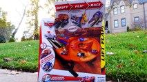 Micro Drifters Cars 2 Track Transforming Raceway Disney Cars Microdrifters Fast Flip Speedway!