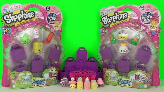 New Season 2 Shopkins 5 Packs Unboxing & Toy Review + Surprise Blind Bags, Moose Toys