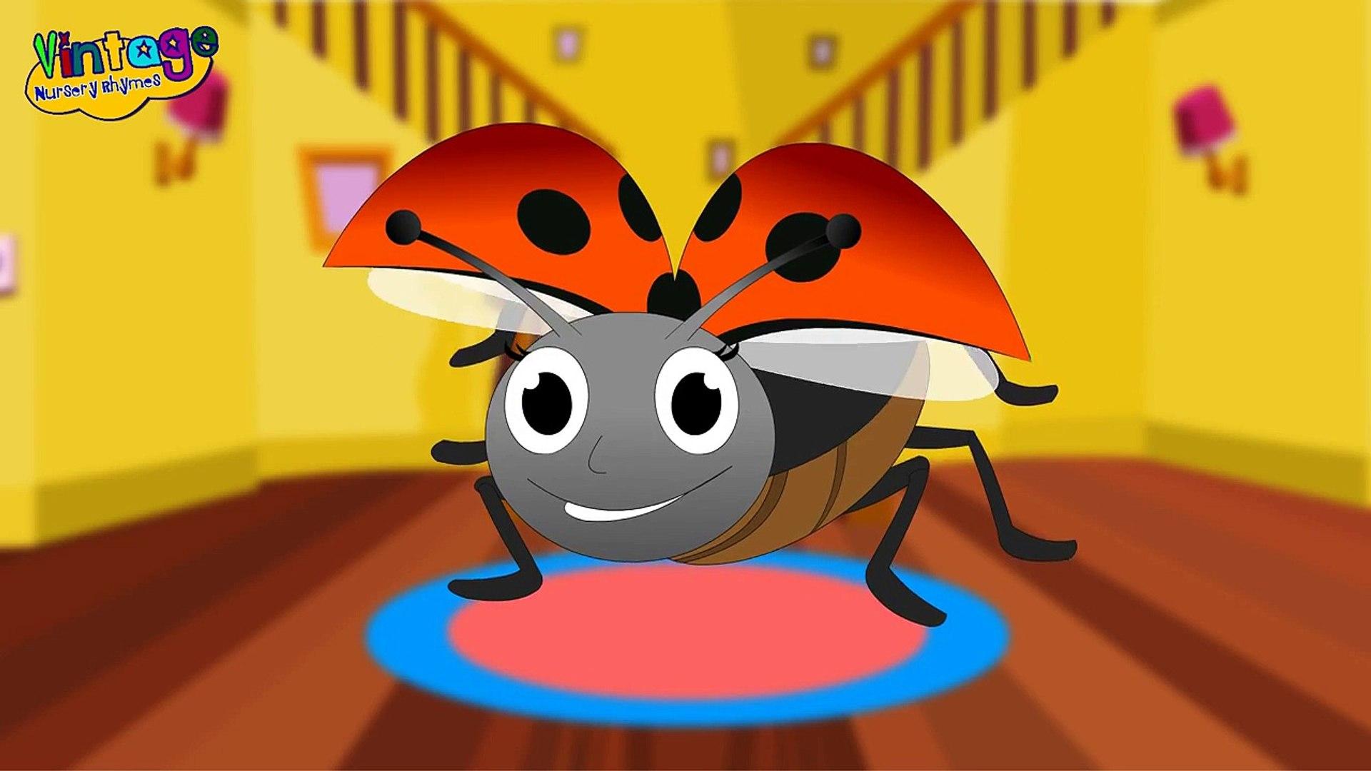 Lady Bug Lady Bug Fly Away Home Song | Childrens Nursery Rhyme With Lyrics | English Nursery Rhymes