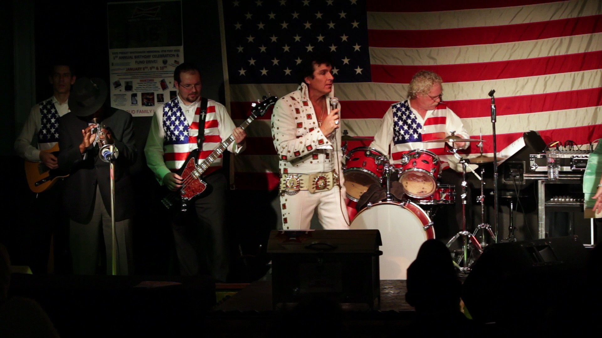 Todd Herendeen and Ben cauley perform 'Why Me Lord' Elvis Presley Memorial VFW 2015
