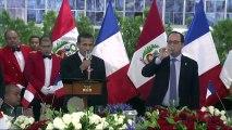 Hollande au Pérou, première étape de sa tournée en Amérique latine