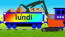 Dessin animé pour enfants. Apprendre les jours de la semaine en français avec le train Tchou-Tchou