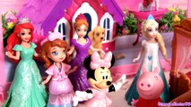 Minnie Mouse SLEEPOVER Slumber Party with Princess Anna