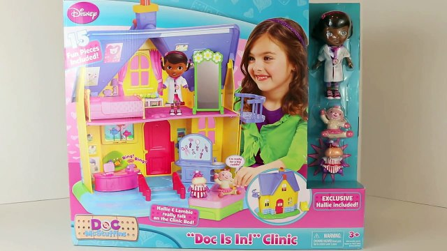 Doc McStuffins Doc Is In Clinic Hallie Lambie Disney Junior Doc McStuffins Toy House DisneyCarToys