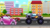 ✔ Voiture de course, Monster Truck pour enfants. Tiki Taki Voitures. Série 6 ✔