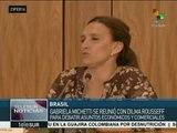 Brasil: vicepresidenta de Argentina se reúne con Dilma Rousseff