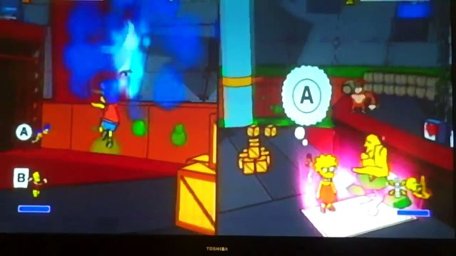 Me and my Brother VS. The Bosses of the Simpsons Game Part 1