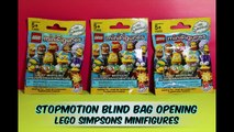 The Simpsons Lego Minifigures Stop Motion Blind Bag Opening