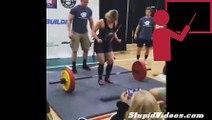 Girl Pukes While Powerlifting