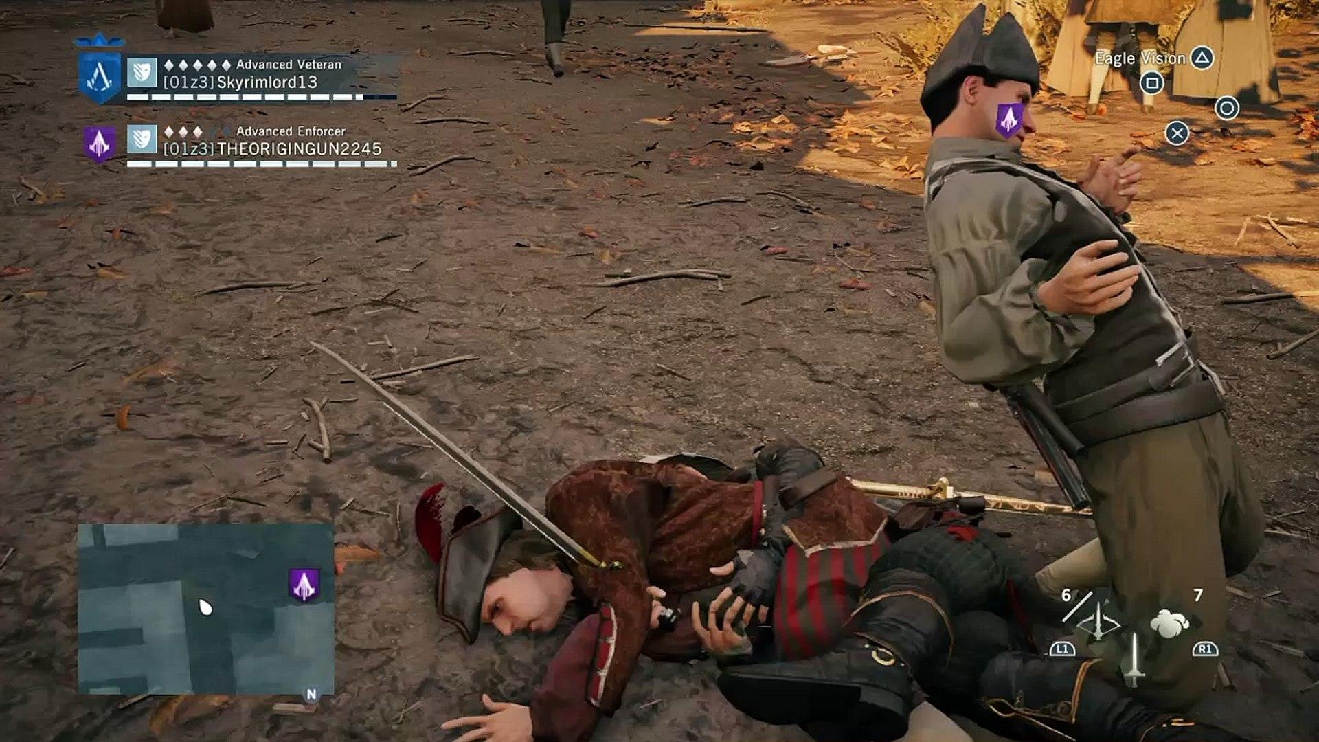 Funny body glitches in Assassin's Creed Unity