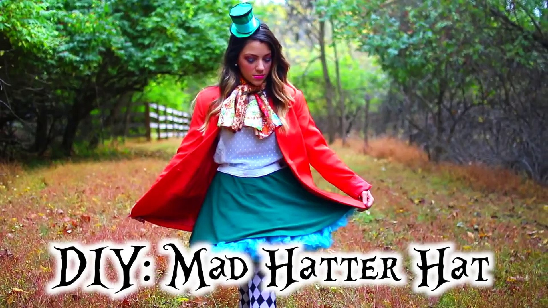 Alice And Mad Hatter Diy Costumes Hair And Makeup