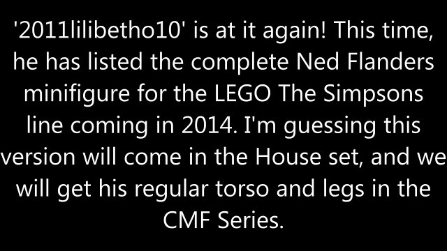 LEGO The Simpsons: Complete Ned Flanders figure leaked!