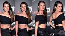 Lea Michele: Single with Abs of Steel! See Her Red Hot Red Carpet Look!