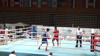Highlights : Marcus GEVIA (FRA) vs Jianguan HU (CHN) - 52kg - STRANDJA CUP (Tour préliminaire 2)