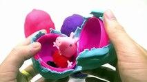 Peppa Pig Español play doh surprise eggs lego disney cars toys smurfs