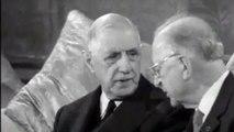 Charles de Gaulle reçu à Dublin par Éamon de Valera en juin 1969