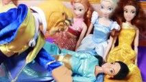 Disney Princess Jasmine PREGNANT Barbie Parody Dream Birth Story Disney Frozen Elsa Beast Aladdin