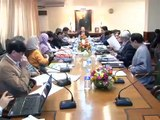SINDH CHIEF MINISTER SYED QAIM ALI SHAH CHAIRS HEALTH MEETING. (25-02-2016)