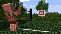 Monster School Axe Throwing (Minecraft Animation)