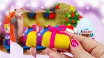 La nuit de Noël, les Œufs, le Kinder Surprise Macha et lOurs de Peppa pig Santa Claus - 2016