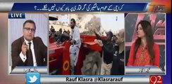 Karachi ke loog Altaf Hussain ki ajeeb takreer tu sun laite hain per Fixit Alamgeer ke liye koi nahi nikla ? Rauf Klasra