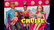 Frozen Cruise Ship Barbie Boat Vacation Kristoff Anna Ariel Mermaid Disney Parody DisneyCarToys