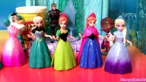 Queen Elsa Magiclip Disney Frozen Dolls Princess Anna Play Doh Design a Dress for Elsa Mag