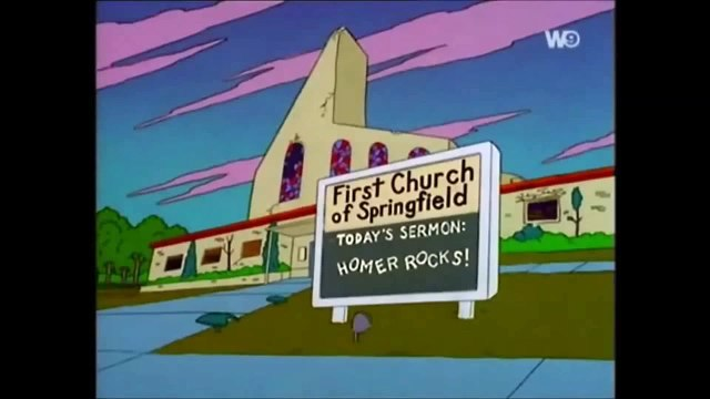 Simpsons, 9x04 Simpson Horror Show Vİ french église homer