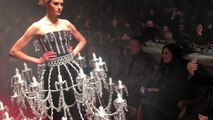 The chandelier dress at Moschino