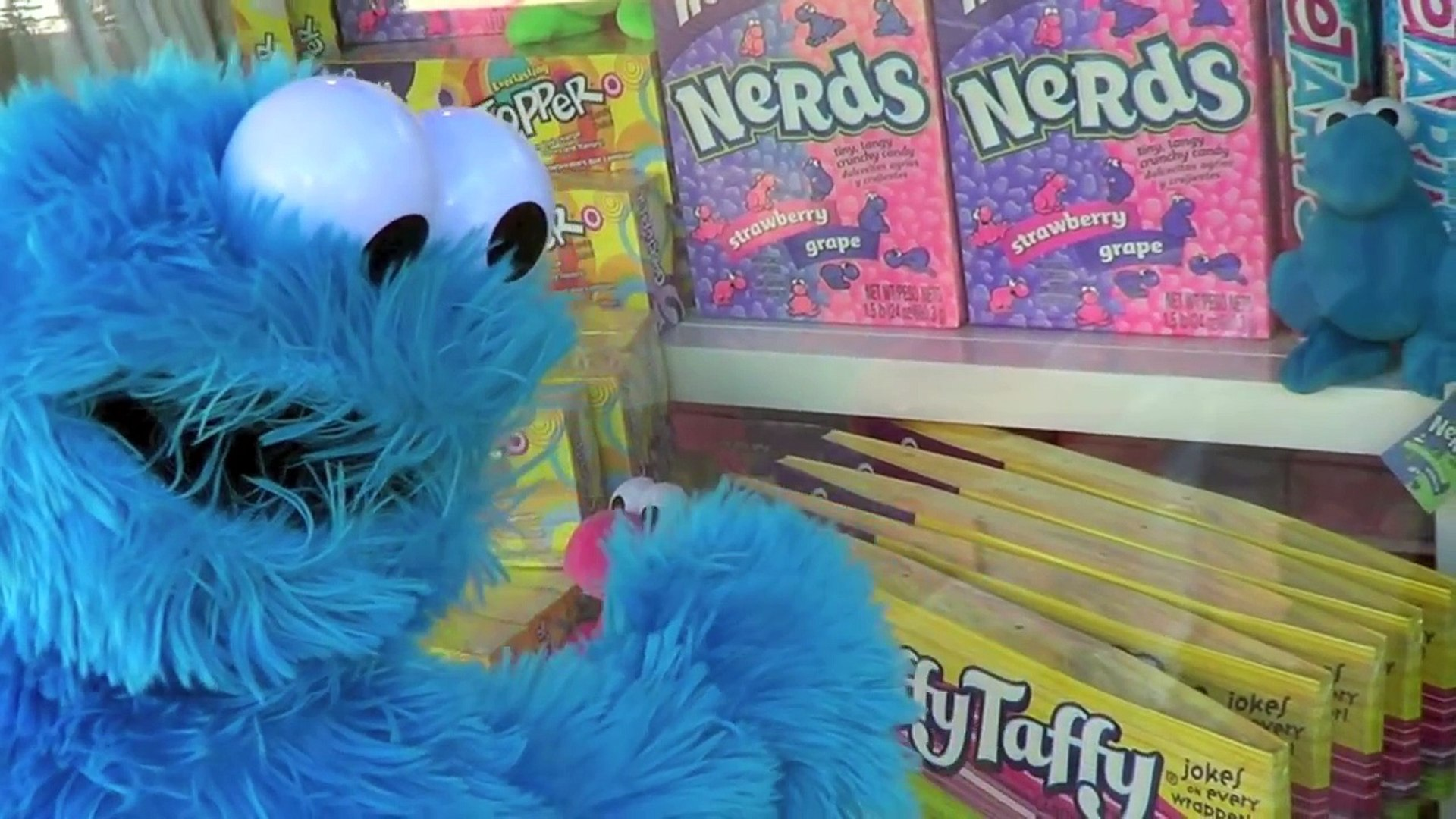 Cookie Monster Goes To The Mall Cookie Monster Eats Cars Micro Drifters Cookie Monster Crash
