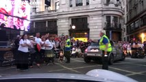 Crowds greet Gumball 3000 participants with Maximillion Cooper leading the way