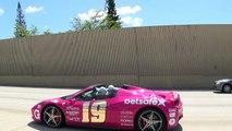 Chasing Lamborghini Aventador VS Ferrari F12 VS Ferrari 458 Supercars on Highway Gumball 3000.