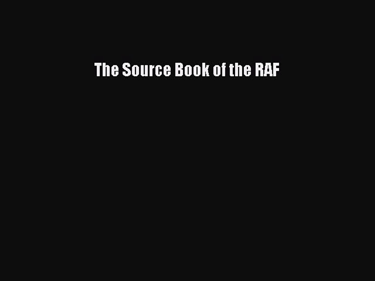 Download The Source Book of the RAF Ebook Free
