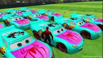 Lightning McQueen Cars Blue Spiderman Cars 2 Nursery Rhymes McQueen (Songs for Children wi