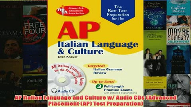 Download PDF  AP Italian Language and Culture w Audio CDs Advanced Placement AP Test Preparation FULL FREE