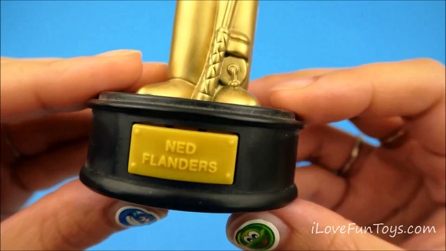 Gold Ned Flanders 2007 Burger King The Simpsons Talking Golden Statues Toy #7 Complete Set of 15
