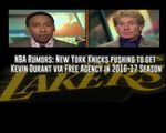 ESPN First Take 2/23/16 New York Knicks working on Kevin Durant in 2016-17 NBA Season